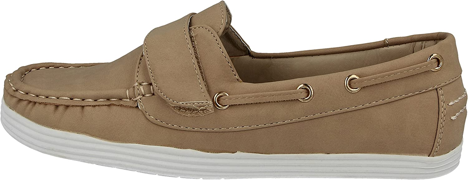 Cushion Walk Ladies Maria Boat Deck Faux Leather Casual Shoes Size 3-8