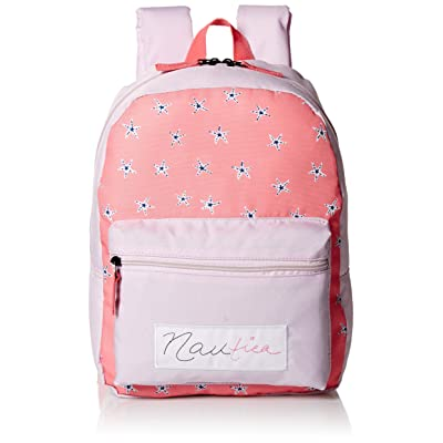 Nautica Girls' Big Fashion Print Small Backpack for Kids, Pink, One Size: Clothing
