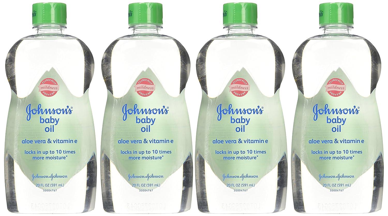 Amazon.com: Johnsons Baby Oil with Aloe Vera and Vitamin E, 2 Count (20 fl oz each): Health & Personal Care