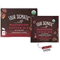 FOUR SIGMATIC Mushroom Coffee Cordyceps and Chaga (10 Packets), 2.5g