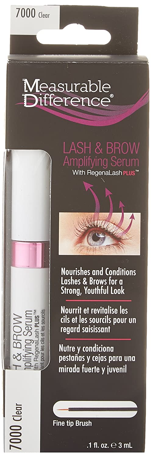 4137275ddea Amazon.com: Measurable Difference Lash and Brow Amplifying Serum, Clear, .1  Fluid Ounce: Beauty