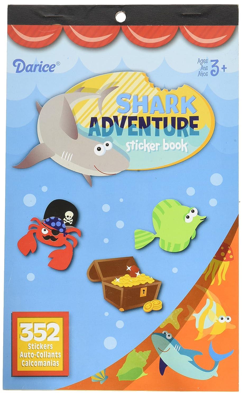 Shark Adventure Darice Sticker Book 352 Stickers 106-5188D