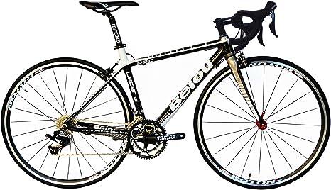BEIOU Bicicleta de Carretera Carbono 700C 23 mm con Shimano TIAGRA ...