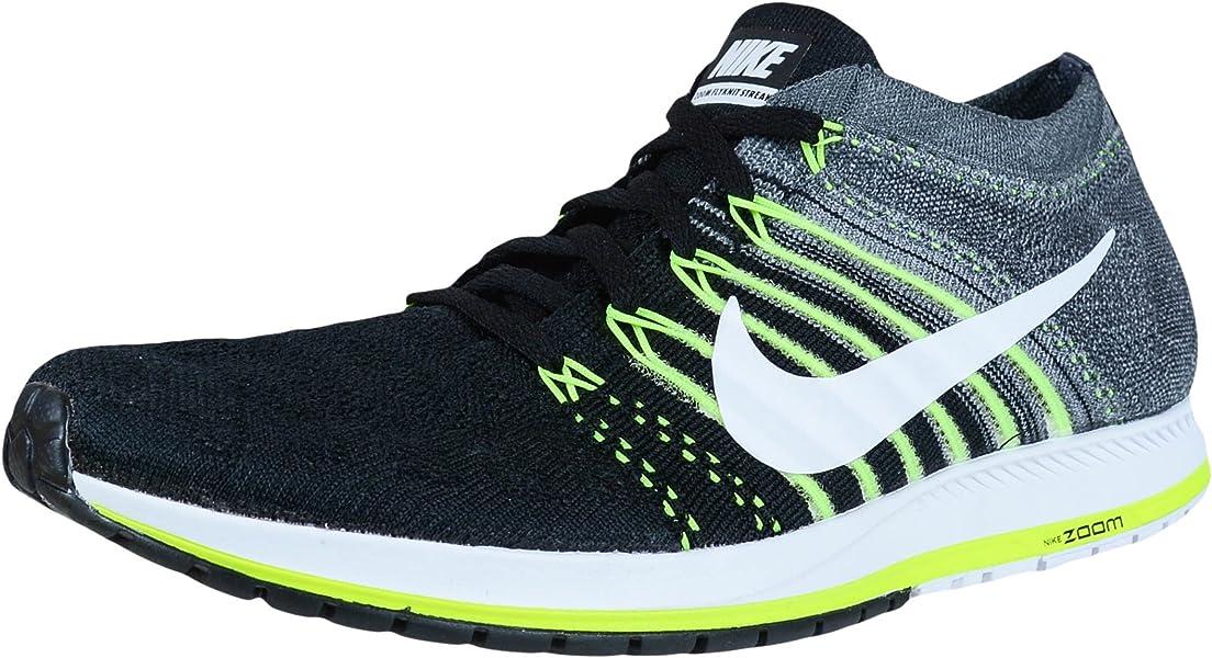 820057007cf70 Nike Flyknit Streak Running Shoes Black White Dark Grey Volt 835994 001