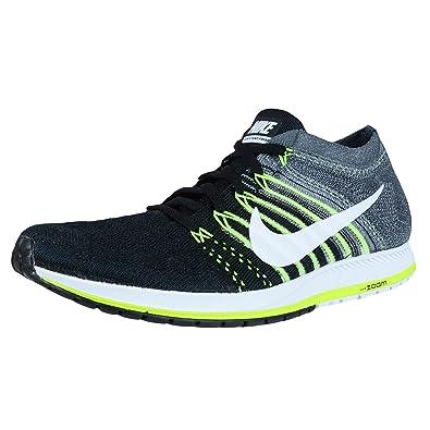 5eae11b62f Nike Herren Flyknit Streak Laufschuhe, Black (schwarz/weiß-dunkelgrau-Volt)
