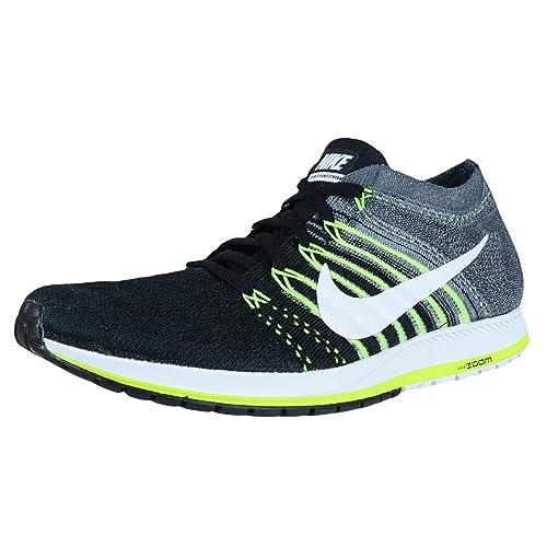 Nike Men's Flyknit Streak Running Shoes, Black (Black (Black/White-Dark