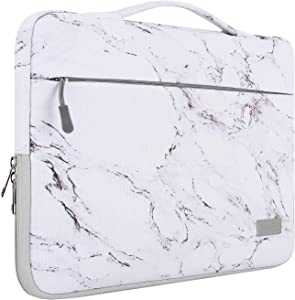 """MoKo 13-13.3 Inch Laptop Sleeve Case Compatible with MacBook Air 13-inch Retina, MacBook Pro 13"""", HP Dell Asus Acer Lenove Notebook Computer, Protective Carrying Bag with Pocket, Marble"""