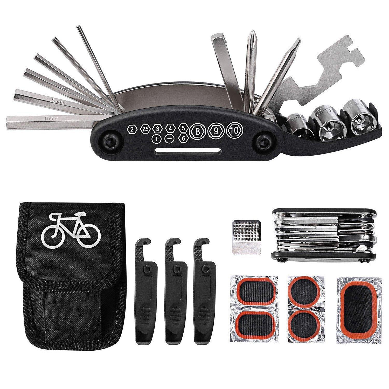 76e427b7771 Tagvo Kit de herramientas para bicicleta, 16 en 1 Herramienta multifunción para  bicicleta con kit