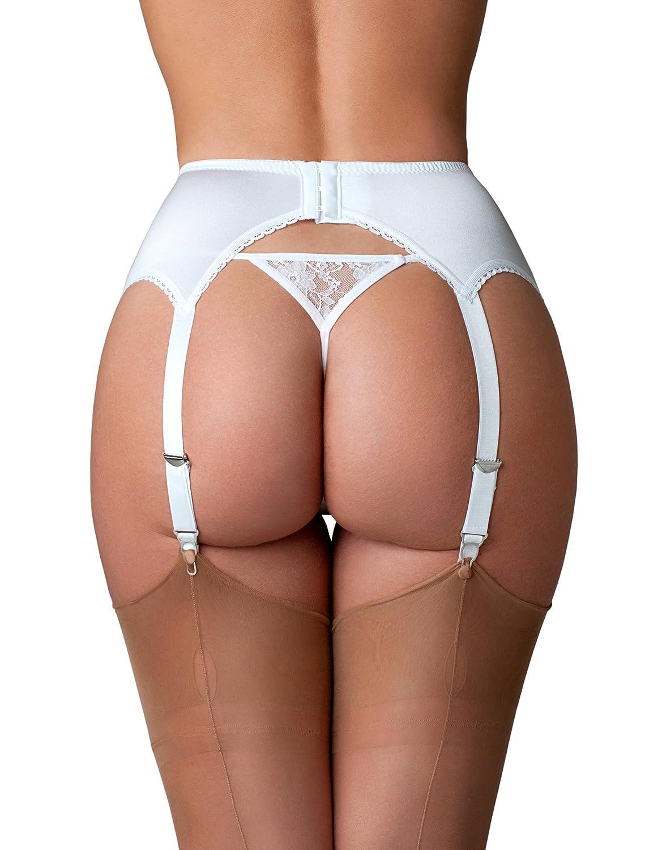 Premier Lingerie 6 Strap Floral Lace Garter Belt for Stockings USA PL4