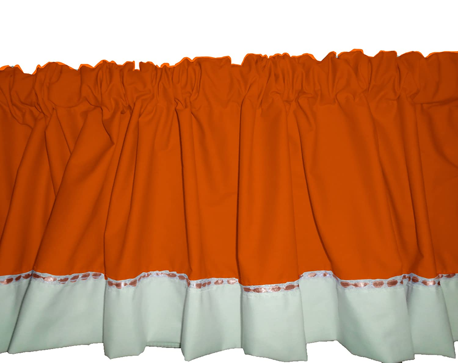 BabyDoll Regal Window Valance, Orange baby doll bedding 530VAL-orange