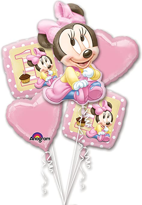 Disney Baby Minnie Mouse 1st Birthday Balloon Bouquet Party Supplies Decorations