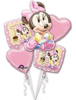 Amazon Com Amscan Disney Baby Minnie Mouse 1st Birthday Scene