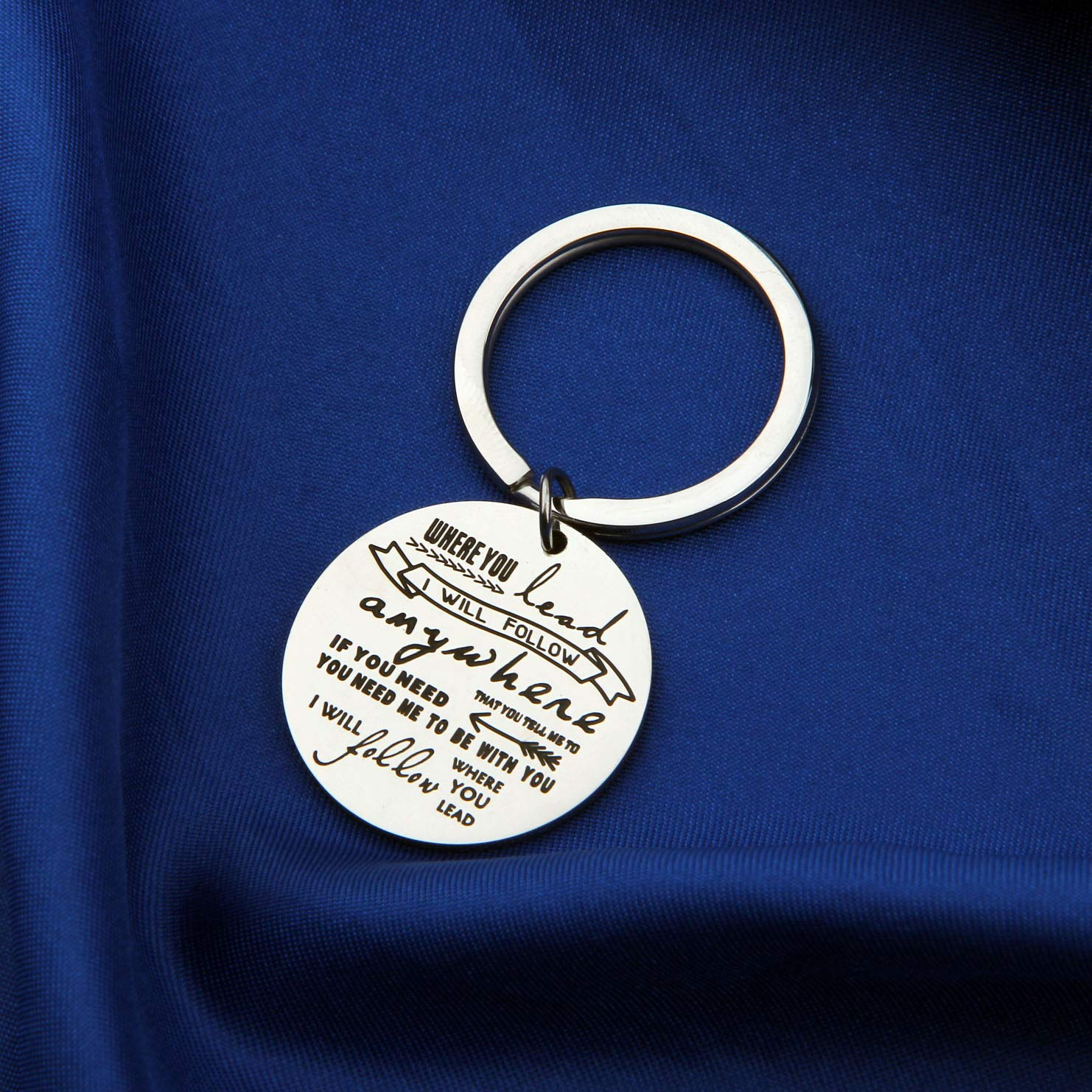 AKTAP Gilmore Girls Gifts Mother Daughter Keychain Where You Lead I Will Follow (Follow You Keychain) by AKTAP (Image #4)