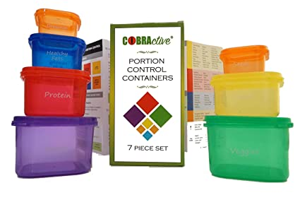21 Day Fix / Fixate / Insanity / Country Heat Fully Compatible Portion  Control Containers Labelled for Healthy Easy Weight Loss, Dieting, Special
