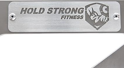 Hold Strong Fitness Acero Inoxidable Barra de Dominadas con Studio Autorización Para Montaje en Pared (Interior y Exterior; El Certifed en 957)
