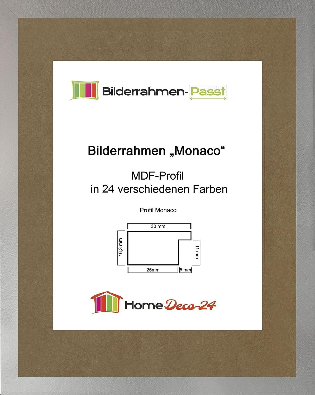Monaco MDF Bilderrahmen ohne Rundungen 27 x 32 cm Größe wählbar 32 x ...
