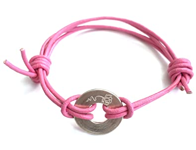 3 WIND KNOTS Engraved FLOWER sign wrap bracelet with meaning