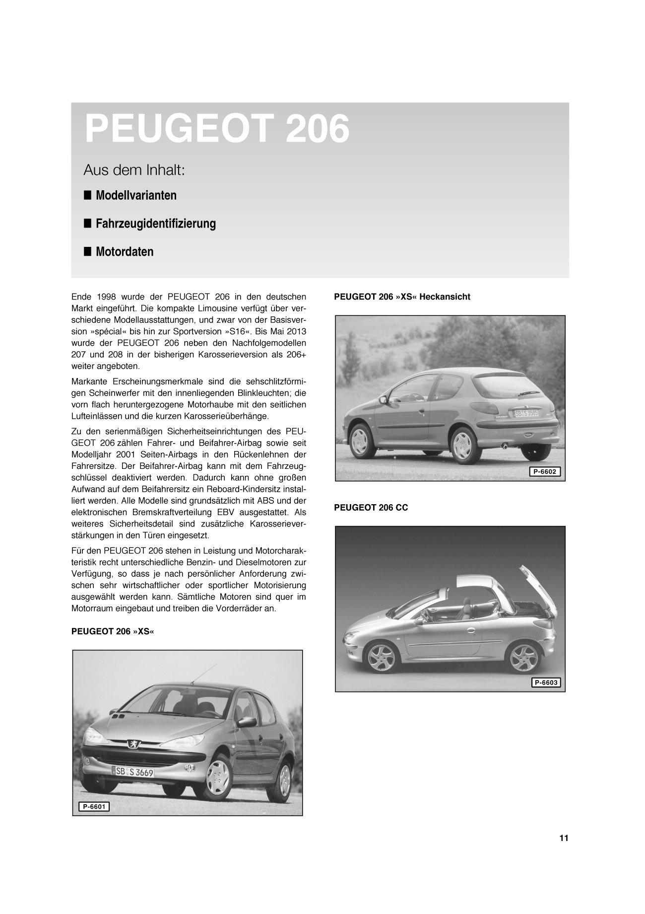 Schaltplan Peugeot 206