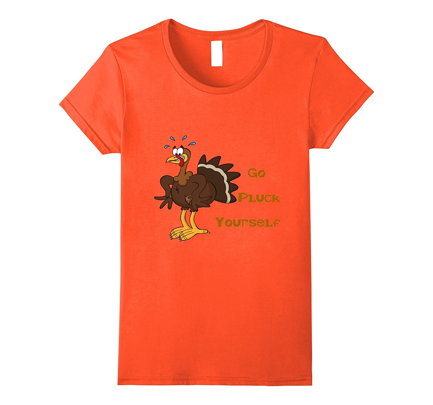 funny thanksgiving t shirt go pluck yourself turkey tee claytee cool t shirt designs for men. Black Bedroom Furniture Sets. Home Design Ideas