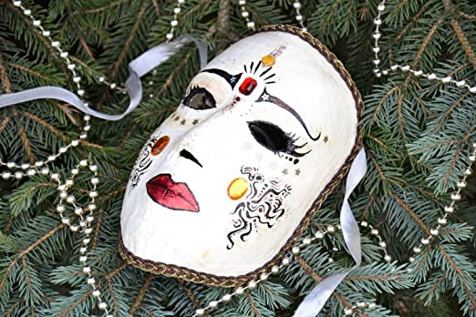 Amazon.com: Máscara de carnaval de yeso: Home & Kitchen