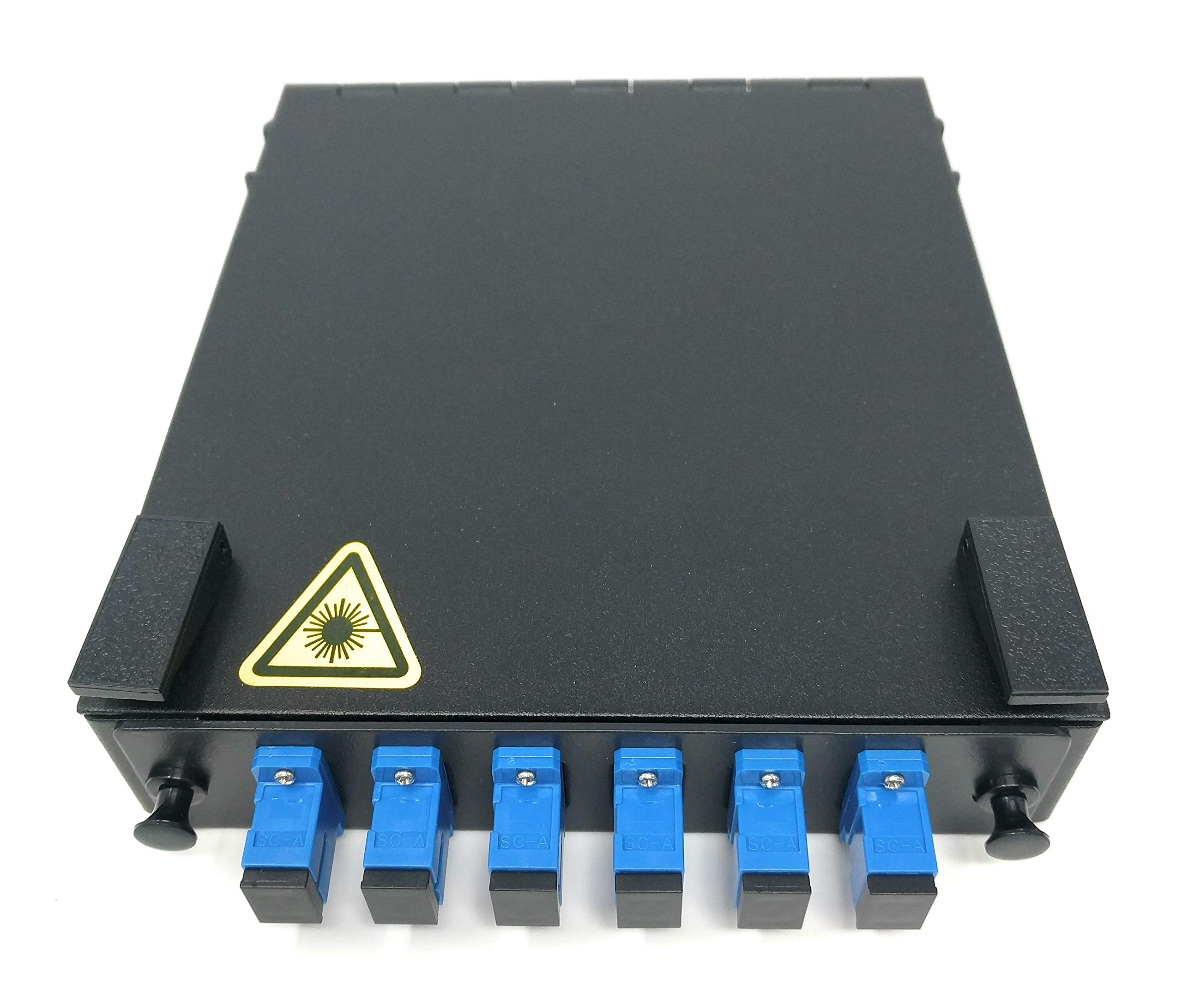 Ultra Spec Cables Wall Mount Fiber Enclosure with Spool and Loaded 6 Port SC-UPC Singlemode LGX Panel by Ultra Spec Cables