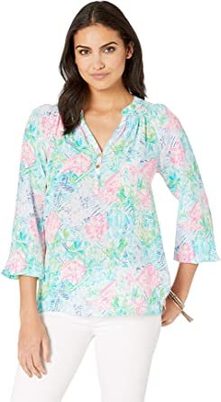 c7aa981a05a4a Lilly Pulitzer Women s Elsa Top Multi Bohemian Queen Small XX-Small