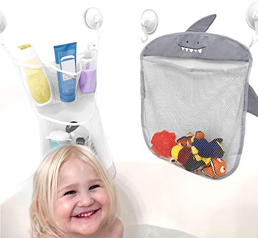 StyleZ Multi-Use Mesh Net Bag Bath Toy Organizer Storage Baby Toddlers Kids Toy with 2 Suctions Cups Hooks