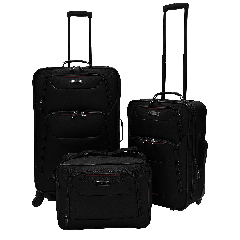 Amazon.com | U.S. Traveler Delmont 3-Piece Expandable Luggage Set ...