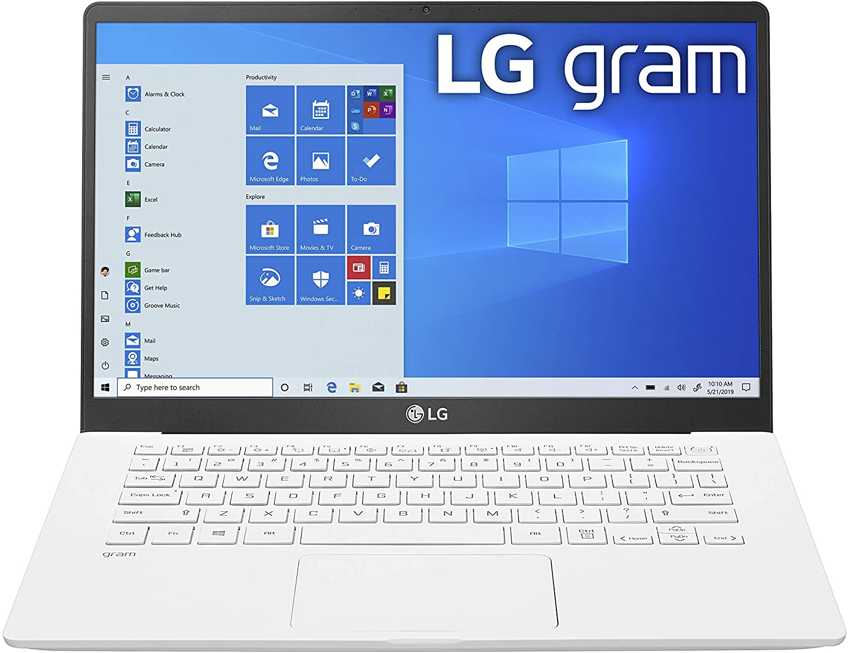 "LG Gram Laptop - 14"" Full HD IPS Display, Intel 10th Gen Core i5-1035G7 CPU, 8GB RAM, 256GB M.2 NVMe SSD, Thunderbolt 3, 18.5 Hour Battery Life - 14Z90N (2020) (14Z90N-U.ARW5U1)"