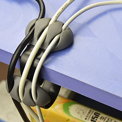 Wire Organizers | Amazon Com Cable Clips Prociv Desktop Cable Organizers Cable Drop