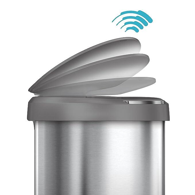 Amazon Com Simplehuman 45 Liter 12 Gallon Stainless Steel Semi