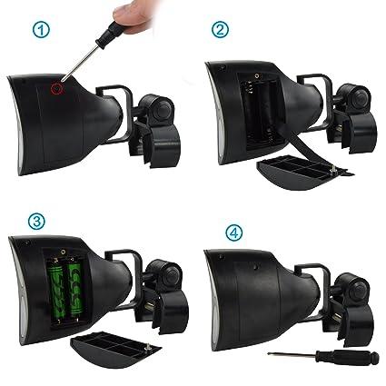 SOAIY® Luz de barbacoa con la abrazadera, focos con 10 LEDS, 180° giratorio en horizontal y vertical, para parrillada y BBQ y barbacoa: Amazon.es: ...
