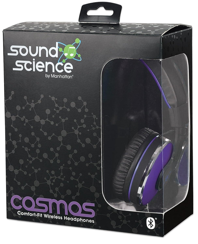 Manhattan Cosmos Diadema Binaural Alámbrico/Inalámbrico Negro, Púrpura - Auriculares (Inalámbrico y alámbrico, Diadema, Binaural, Circumaural, 20-20000 Hz, ...