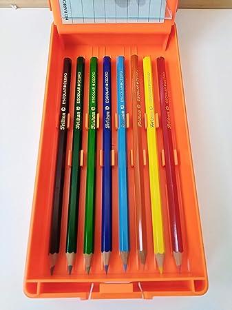 Estuche plumier rigido Pelikan años 80 Naranja: Amazon.es: Juguetes y juegos