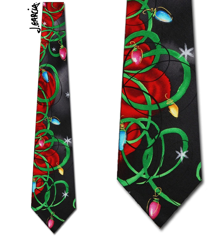 Jerry Garcia (Banyan Trees II - Christmas Black) tie Mens Necktie at ...