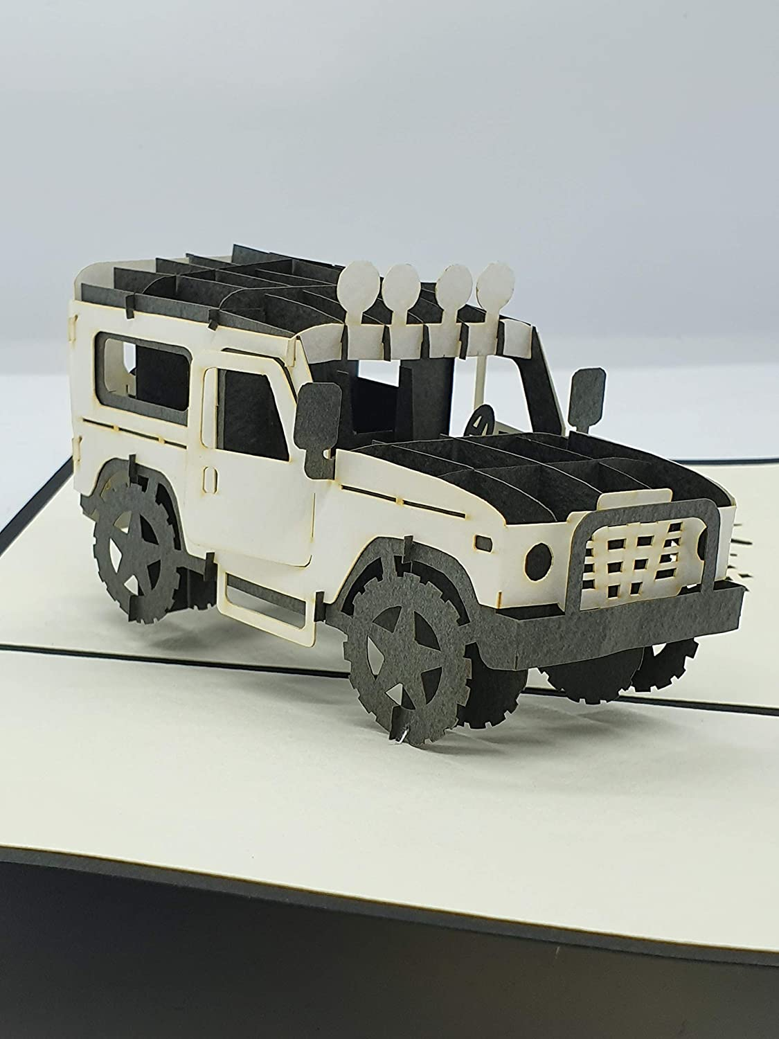 BC Worldwide Ltd handmade 3D pop up card Land Rover birthday,mothers day,fathers day,wedding anniversary,graduation,Valentines day,new car,pass driving test
