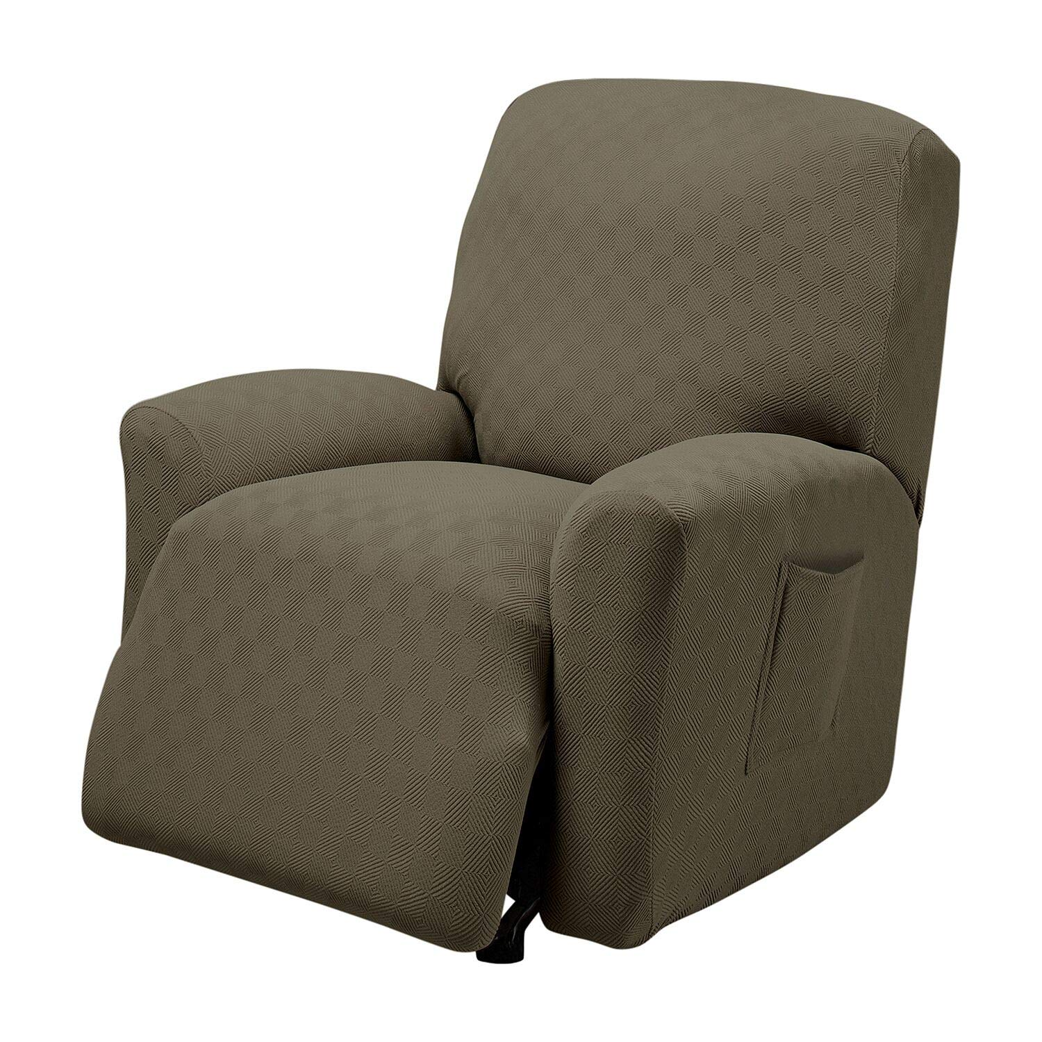 Stretch Sensations, Newport Recliner Slipcover, Standard Recliners, Perfect Chair Protection, Comfortable and Easy Stretch Fabric (Sage) by Stretch Sensations