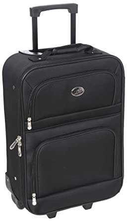 Amazon.com | New Black Travel Carry On Suitcase On Wheels With ...