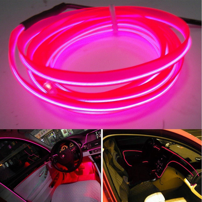 Car Red Panel Interior Trim Light Cold EL Neon Lamp Atmosphere Glow OLED Strip