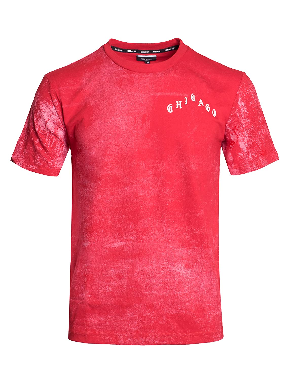 Rise as One RS1NE Splat Old English Yeezy Bleach Chicago Black Short Sleeve T Shirt Pablo
