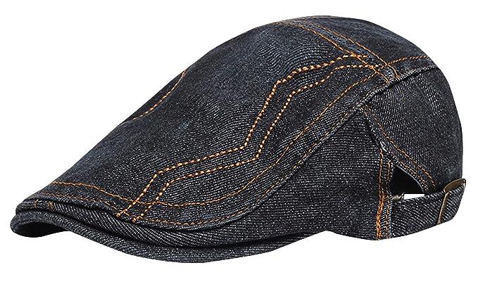 6a0f9ac2087e0 Panegy - Sombrero Garro de Boina Bombines para Hombre con Visera Corta  Beret Gorra de Boina