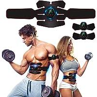Rootok Elektrisch stimulerend apparaat voor buikspieren, elektrische massagegordel met USB, stimulatie van de spieren…