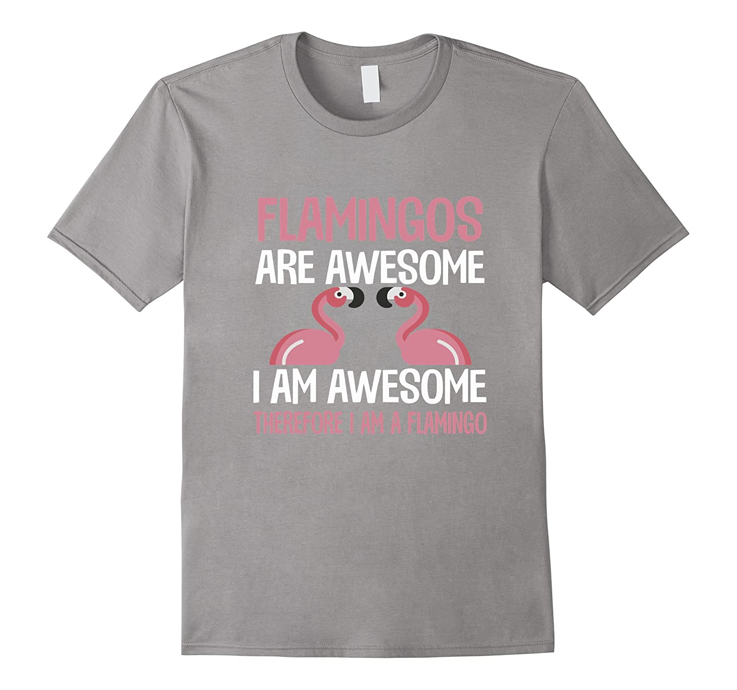 Flamingos Are Awesome I Am Awesome Funny Bird Lover T-Shirt-CL