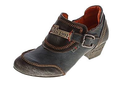 36-42 TMA 8088 echt Leder Damen Pumps Comfort Schuhe Leder Halb Schuhe Gr