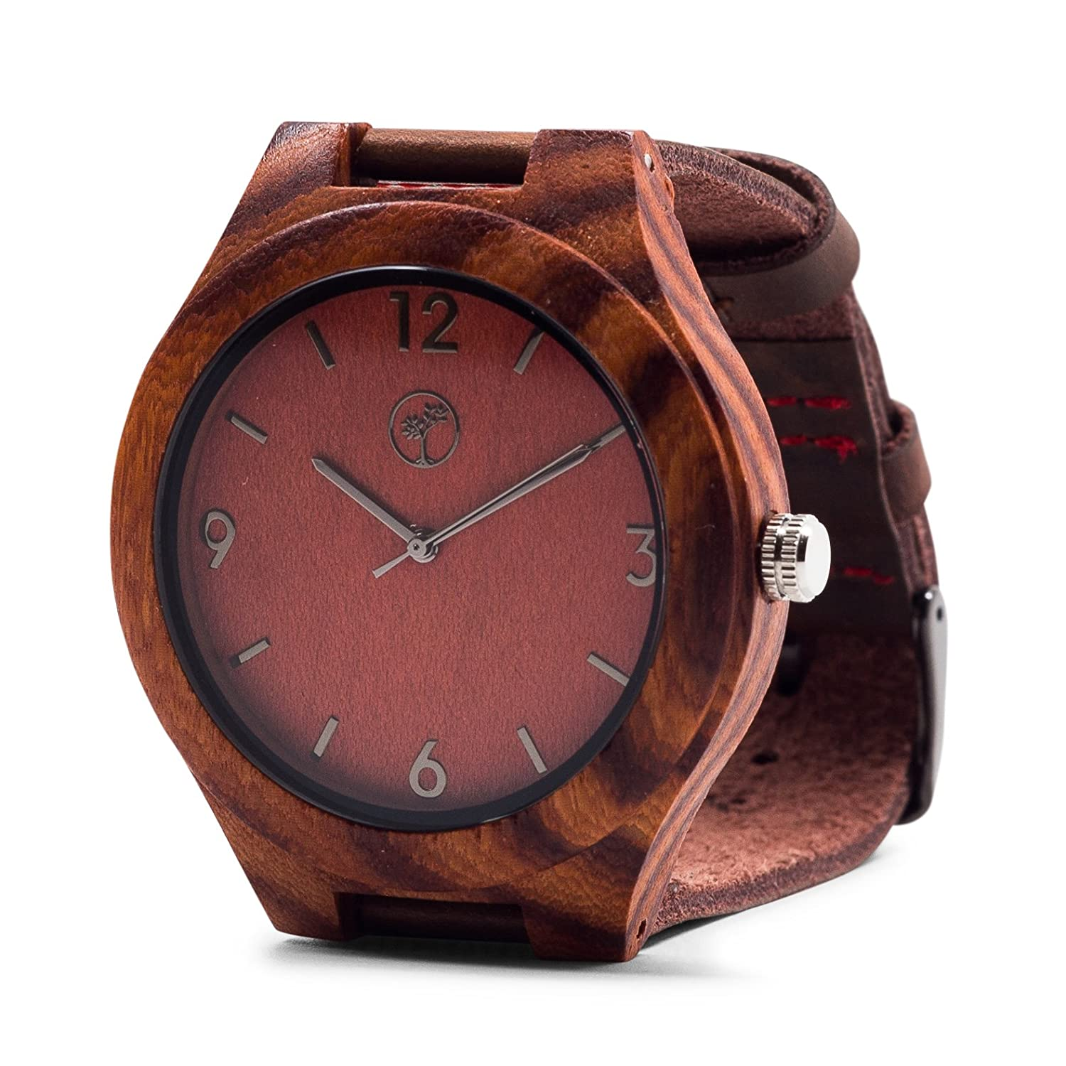 woodwatch in rosewood friendly leather headpeace with watches the and watch black eco sandalwood products red wood gampen