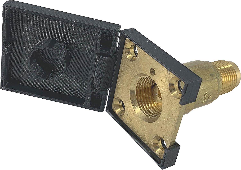 eXODA GLP Tapón de llenado de GLP Cuadrado para Placa HK Negro M22 con bisagra