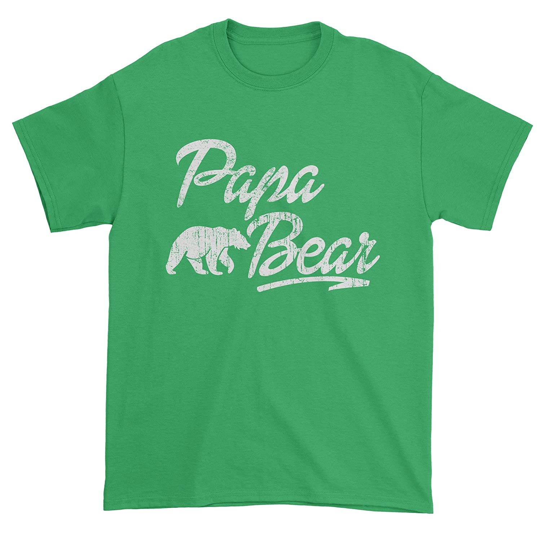 Expression Tees Papa Bear Vintage Distressed Mens T-shirt 1313-M