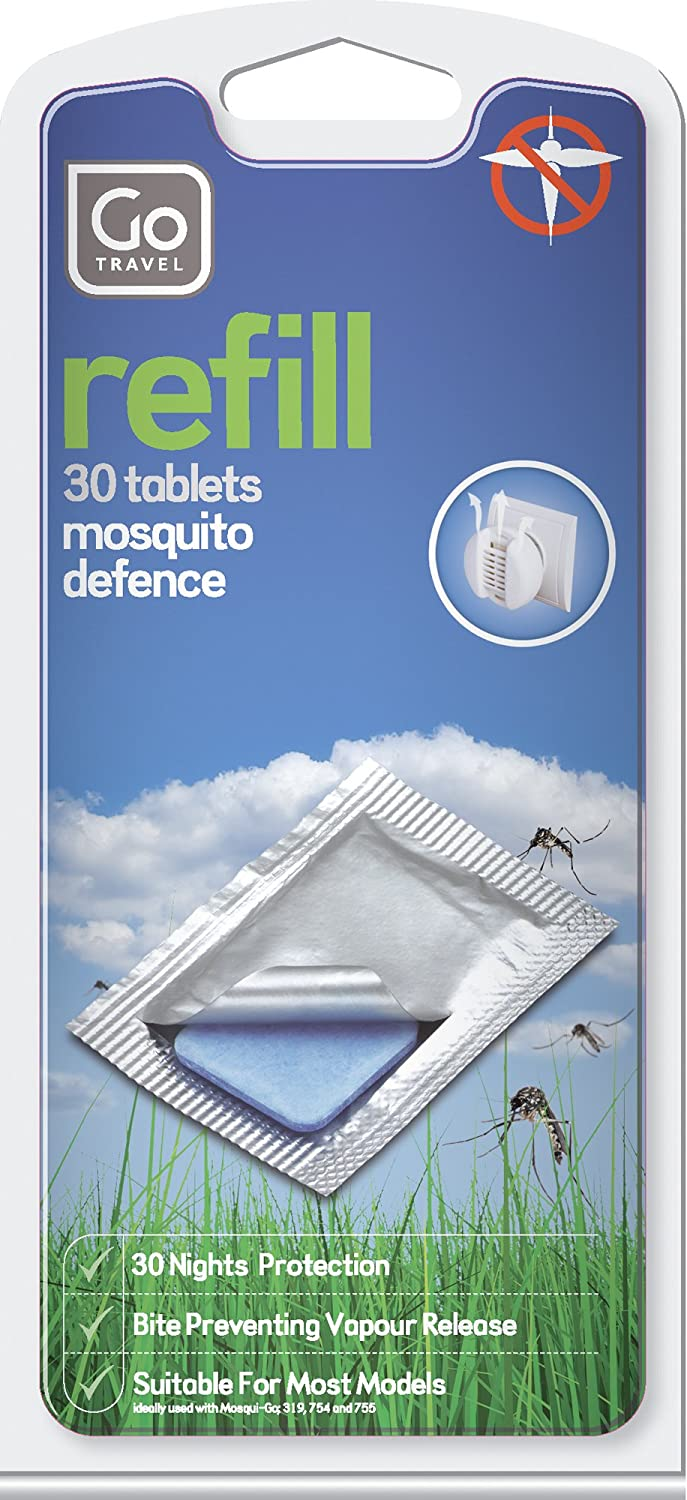 Go Travel Mosqui-Go Mosquito Insect Killer Repellent Tablet Refills - 30 Refills Per Pack (Ref 320)