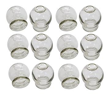 GLAS Schr/öpfen * Feuerschr/öpfen * Schr/öpfkopfe aus Glas 12 St/ück im Set * банки стеклянные с применением огня Banki