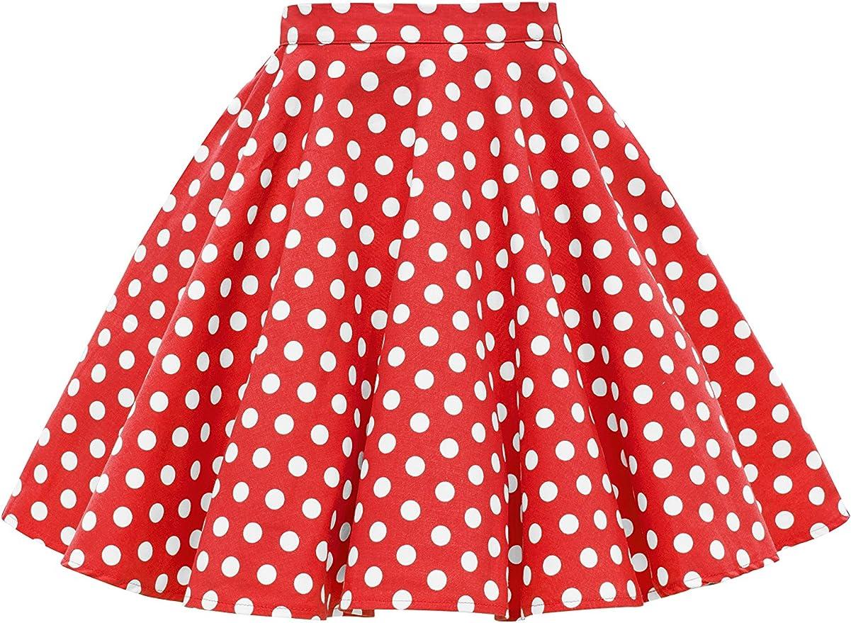 Kids 1950s Clothing & Costumes: Girls, Boys, Toddlers BlackButterfly Kids Vintage 50s Full Circle Girls Swing Skirt  AT vintagedancer.com